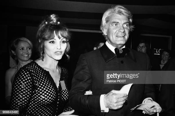 Catherine Rouvel et Jean Marais au Gala de l'Union à Paris le 7 mai 1973 France