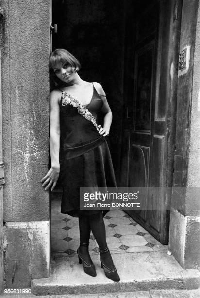 Catherine Rouvel sur le tournage du film 'Borsalino' en septembre 1969 à Marseille France
