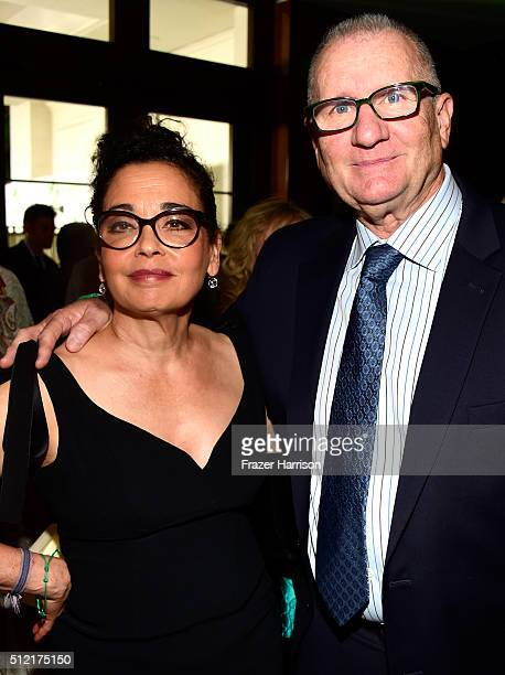 Catherine Rusoff and actor Ed O'Neill attend Global Green USA's 13th annual preOscar party at Mr C Beverly Hills on February 24 2016 in Los Angeles...