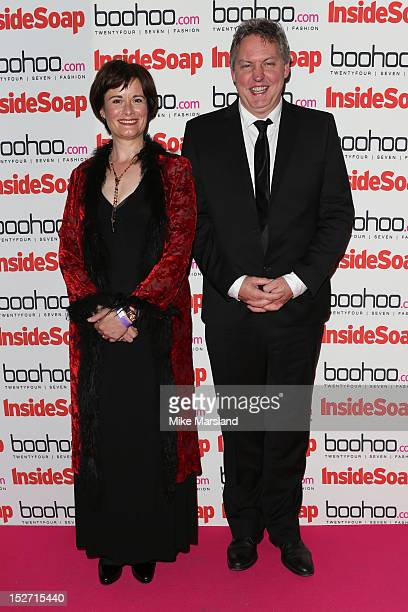 Catherine Russel and Bob Barrett attend the Inside Soap Awards at One Marylebone on September 24 2012 in London England