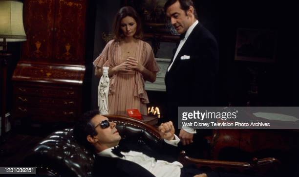 Catherine Schell, co-star, Bradford Dillman appearing in the ABC tv series 'The Wide World of Mystery' episode 'Look Back in Happiness'.