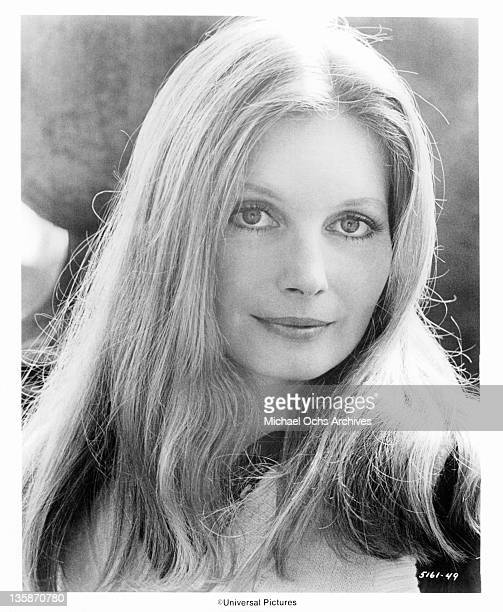 Catherine Schell in a publicity portrait from the film 'The Black Windmill' 1974