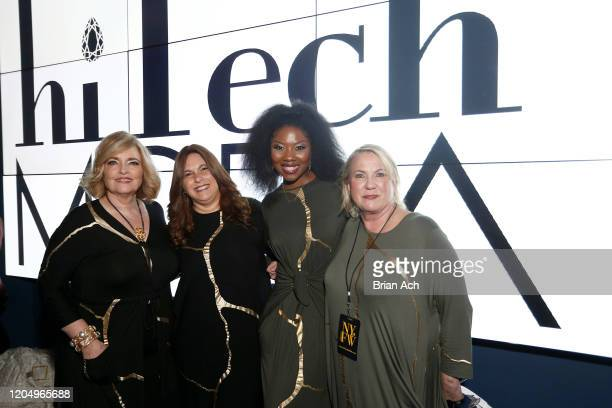 Catherine Schuller Miriam Grunhaus and Pam Privette attend NYFW Powered By hiTechMODA on February 08 2020 in New York City