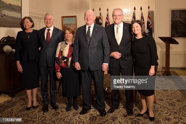 Catherine Shaw Deputy Prime Minister of Australia Michael McCormack Lynne Cosgrove Lady Cosgrove Australia by Australia's GovernorGeneral Sir Peter...