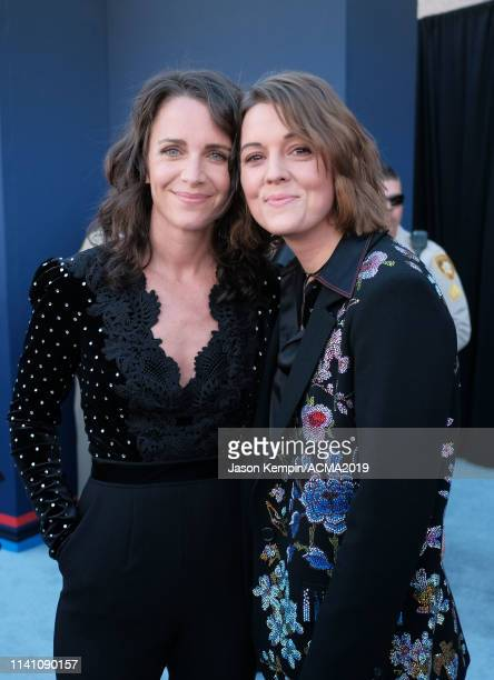 Catherine Shepherd and Brandi Carlile attend the 54th Academy Of Country Music Awards at MGM Grand Garden Arena on April 07 2019 in Las Vegas Nevada