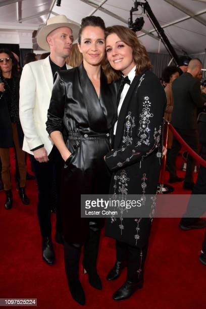 Catherine Shepherd and Brandi Carlile attend the 61st Annual GRAMMY Awards at Staples Center on February 10 2019 in Los Angeles California