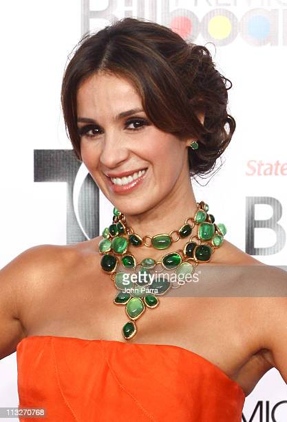 Catherine Siachoque arrives at the 2011 Billboard Latin Music Awards at Bank United Center on April 28 2011 in Miami Florida