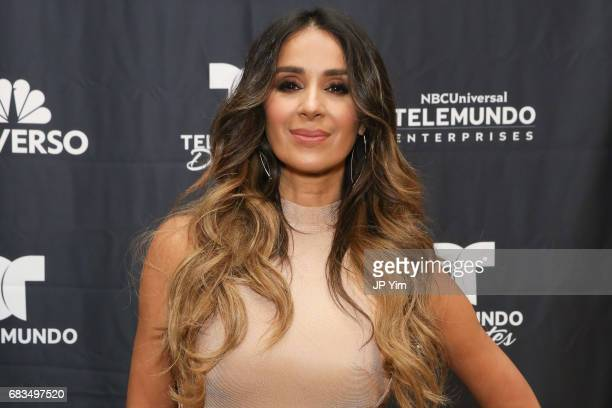 Catherine Siachoque Varoni attends Telemundo's Al Rojo Vivo 15th Anniversary Celebration at Hammerstein Ballroom on May 15 2017 in New York City