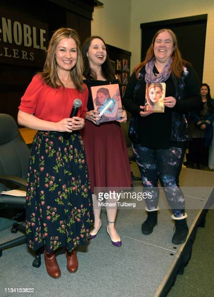 "Catherine Taber, Amy Ratcliffe and E.K. Johnston attend a signing event for ""Star Wars: Women Of The Galaxy"" at Barnes & Noble at The Grove on March..."