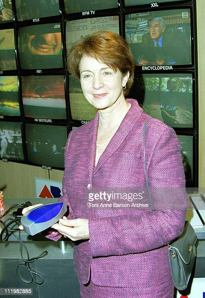 Catherine Tasca during MIPTV 2001 at Palais des Festivals in Cannes France