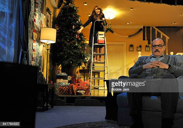 Catherine Tate as Belinda and David Troughton as Harvey in Alan Ayckbourn's Season's Greetings directed by Marianne Elliott at the National Theatre...