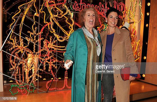 Catherine Tate in character as Nan and Mary McCartney attend the switch on ceremony for the Stella McCartney store christmas lights on November 22...