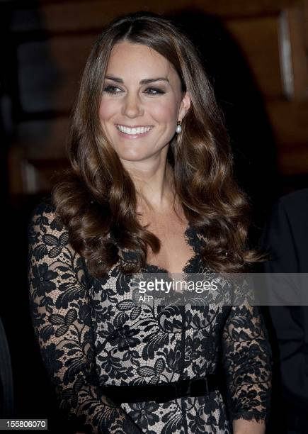 Catherine the Duchess of Cambridge arrives to attend a ceception and dinner in aid of the University of St Andrews 600th anniversary appeal in London...