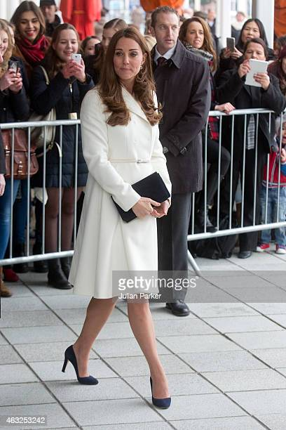 Catherine The Duchess of Cambridge attends a reception at The Spinnaker Tower on a visit to Portsmouth on February 12 2015 in Portsmouth England