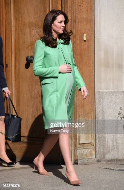 Catherine The Duchess of Cambridge convenes an early intervention for children and families symposium at Royal Society of Medicine on March 21 2018...