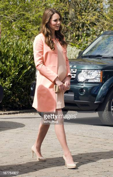 Catherine The Duchess Of Cambridge meets children and staff during a visit to Naomi House Children's Hospice on April 29 2013 near Winchester...