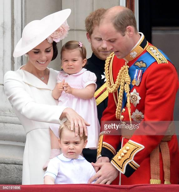 Catherine, The Duchess of Cambridge, Princess Charlotte of Cambridge, Prince George of Cambridge and Prince William, The Duke of Cambridge during the...