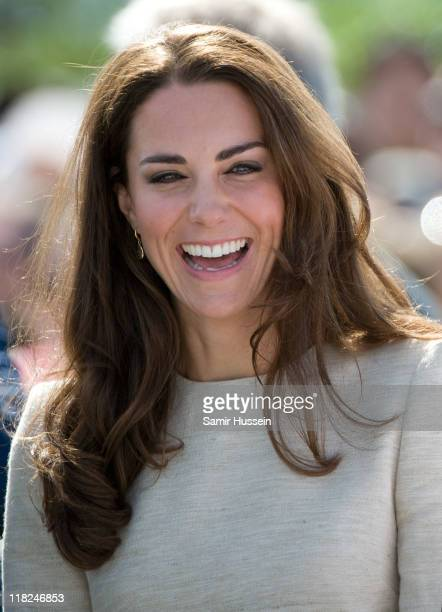 Catherine, the Duchess of Cambridge visits the Somba K'e Civic Plaza on day 6 of the Royal Couple's North American Tour, July 5 2011 in Yellowknife,...