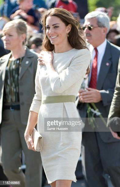 Catherine the Duchess of Cambridge visits the Somba K'e Civic Plaza on day 6 of the Royal Couple's North American Tour July 5 2011 in Yellowknife...