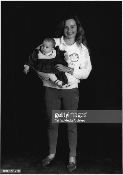Catherine Treweeke with daughter Annabelle.At home there's no room for vanity in 18-year-old trackpants, a T-shirt and sloppy joe. June 29, 1989. .
