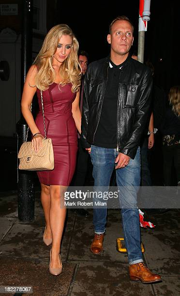 Catherine Tyldesley and Antony Cotton at the Groucho club on September 28 2013 in London England