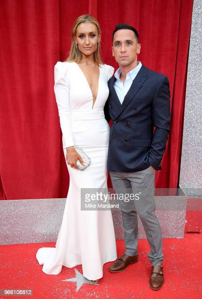 Catherine Tyldesley and husband Tom Pitford attend the British Soap Awards 2018 at Hackney Empire on June 2 2018 in London England