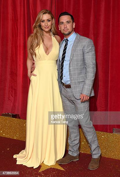 Catherine Tyldesley and Tom Pitford attend the British Soap Awards at Manchester Palace Theatre on May 16 2015 in Manchester England