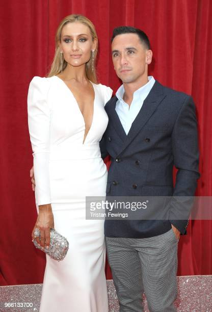 Catherine Tyldesley and Tom Pitford attends the British Soap Awards 2018 at Hackney Empire on June 2 2018 in London England