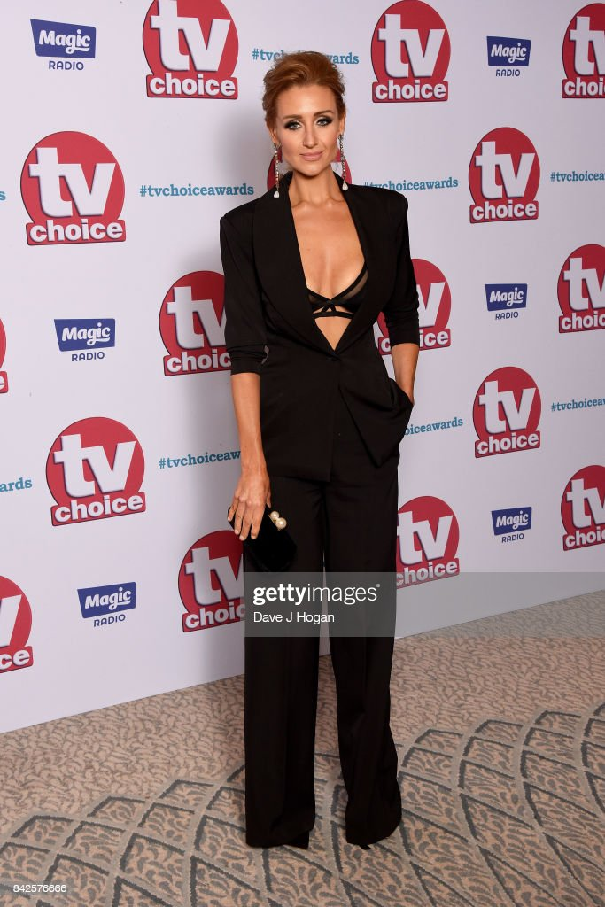 Catherine Tyldesley arrives at the TV Choice Awards at The Dorchester on September 4, 2017 in London, England.