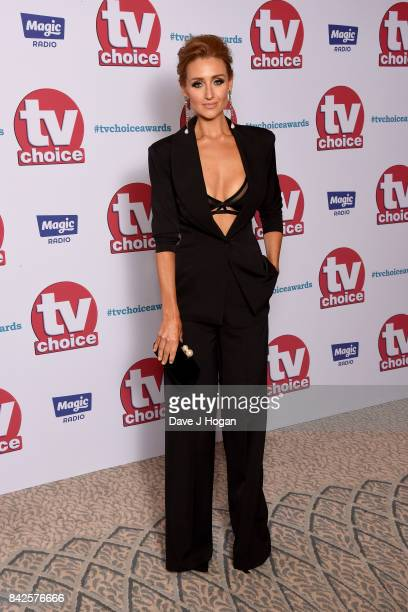 Catherine Tyldesley arrives at the TV Choice Awards at The Dorchester on September 4 2017 in London England