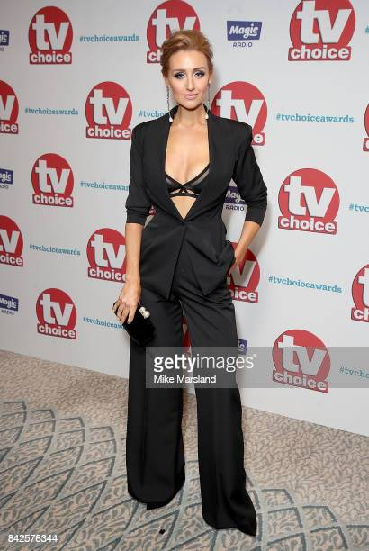 Catherine Tyldesley arrives for the TV Choice Awards at The Dorchester on September 4 2017 in London England