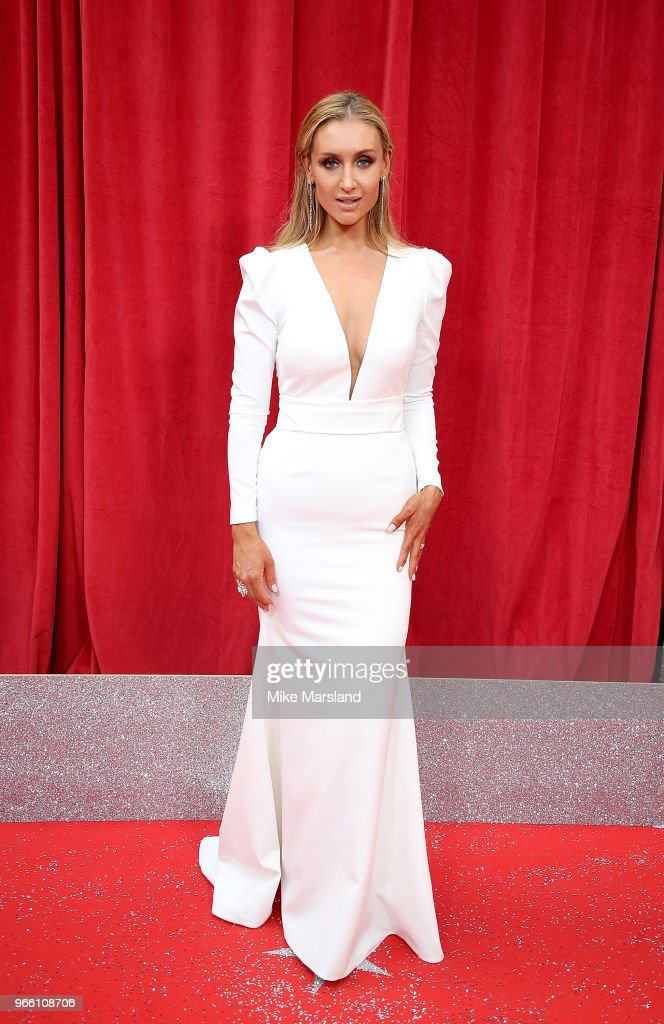Catherine Tyldesley attends the British Soap Awards 2018 at Hackney Empire on June 2, 2018 in London, England.