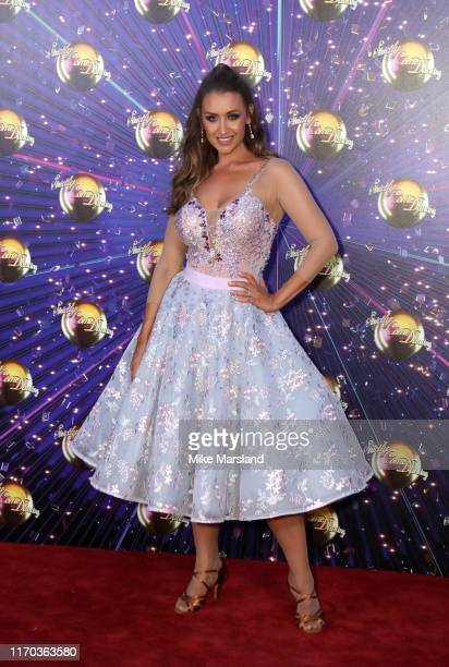 Catherine Tyldesley attends the Strictly Come Dancing launch show red carpet at Television Centre on August 26 2019 in London England