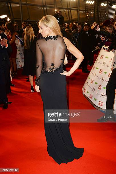 Catherine Tyldesley dress detail attends the 21st National Television Awards at The O2 Arena on January 20 2016 in London England