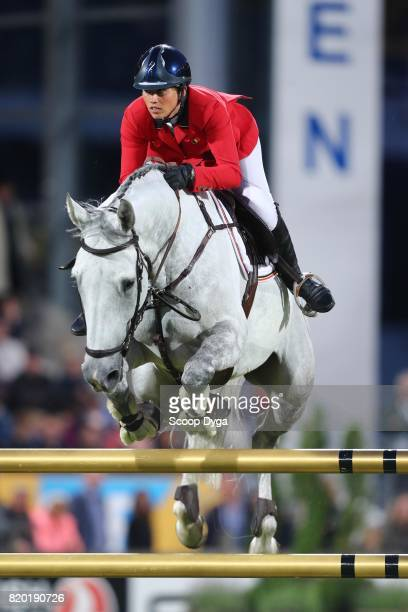 Catherine VAN ROOSBROECK riding GAUTCHO DA QUINTA during the Prize of North RhineWestphalia of the World Equestrian Festival on July 21 2017 in...
