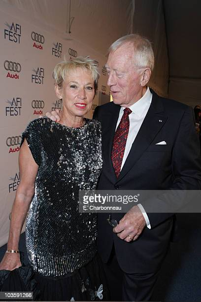 "Catherine von Sydow and Max von Sydow at the Los Angeles Premiere of Miramax ""The Diving Bell and The Butterfly"" at the ArcLight Theatre on November..."