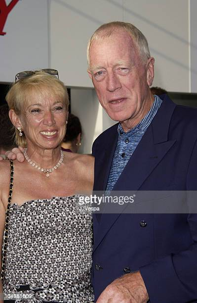 Catherine von Sydow and Max von Sydow during Cannes 2002 - Lionsgate Party at the Variety Pavilion at The Variety Pavilion in Cannes, France.