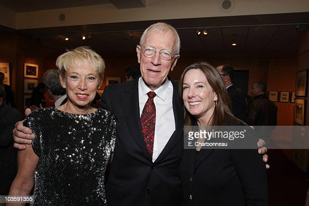 "Catherine von Sydow, Max von Sydow and Producer Kathleen Kennedy at the Los Angeles Premiere of Miramax ""The Diving Bell and The Butterfly"" at the..."