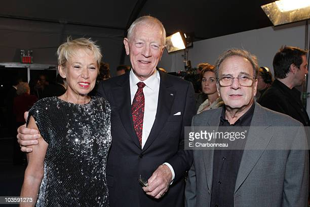 "Catherine von Sydow, Max von Sydow and Screenwriter Ronald Harwood at the Los Angeles Premiere of Miramax ""The Diving Bell and The Butterfly"" at the..."