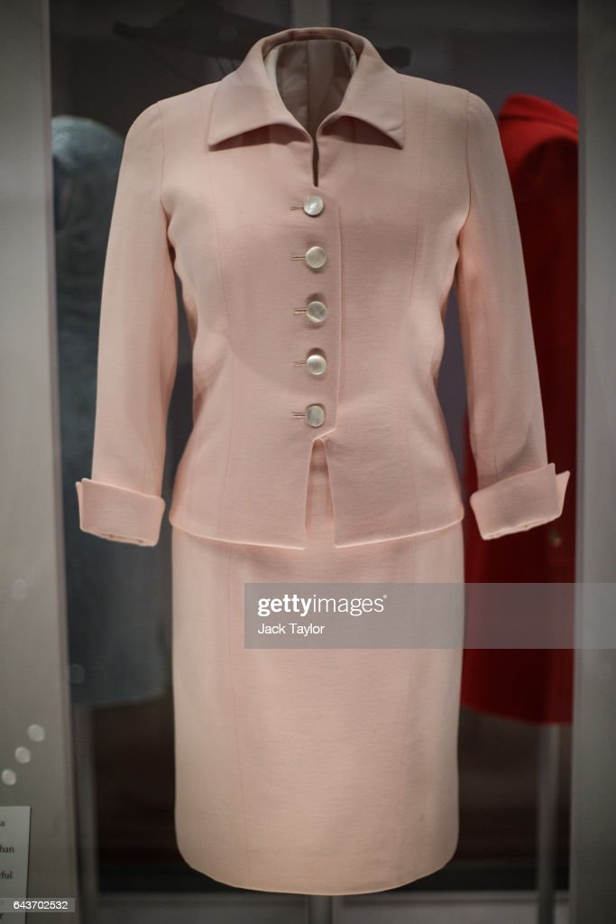 Catherine Walker pale pink day suit worn by Princess Diana at the Savoy Hotel in London in 1997 on display at a press preview at Kensington Palace on February 22, 2017 in London, England. The exhibition 'Diana: Her Fashion Story', which showcases a number of the Princess' dresses and outfits, opens to the public on February 24. August 31st this year marks 20 years since Princess Diana was killed in a car crash in Paris.