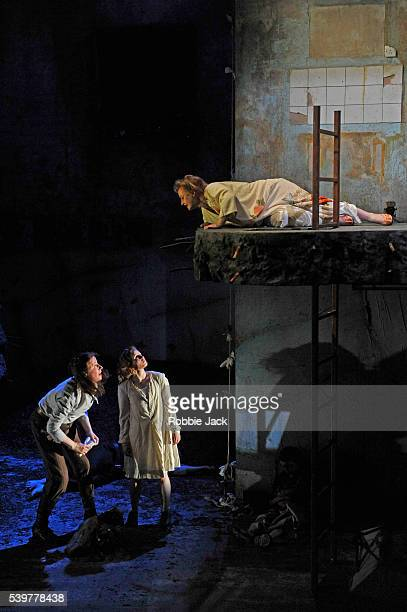Catherine Walsh as Beatriz Rebecca Benson as the girl and Meg Fraser as Madam in the National Theatre of Scotland's production of Zinnie Harris's...