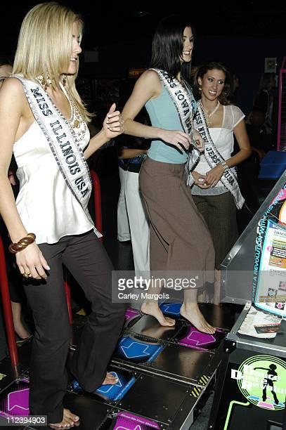 Catherine Warren Miss Illinois USA Sarah Corpstein Miss Iowa USA and Jessica Boyington Miss New Jersey USA
