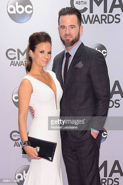 Catherine Werne and David Nail attend the 48th annual CMA Awards at the Bridgestone Arena on November 5, 2014 in Nashville, Tennessee.