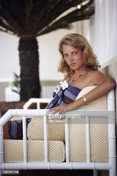 Catherine Wilke relaxing on the island of Capri Italy in August 1980