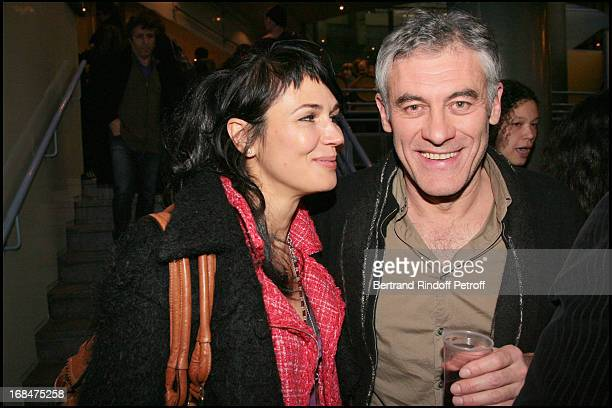 Catherine Wilkening and Erick Zonca at Theatre Production Of L'Hotel Du Libre Echange At The Theatre De La Colline