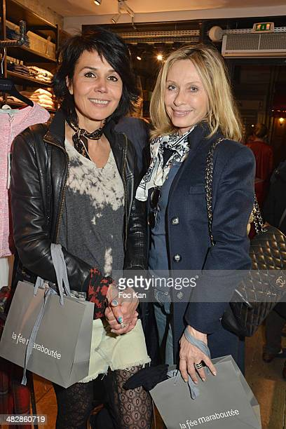 Catherine Wilkening and Valerie Steffen attend the 'J'aime Ton Mari' Sylvie Bourgeois Harel Book Reading Cocktail at La Fee Maraboutee Yvonne Le Tac...
