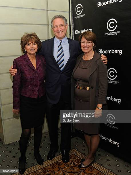 Catherine Williams, Executive Director Center for Communication, Daniel L. Doctoroff, President CEO of Bloomberg LP and Senator Amy Klobuchar attends...