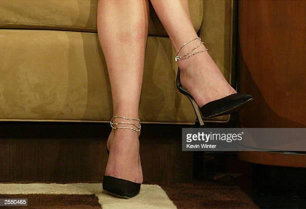Catherine Zeta Jones appears on the Tonight Show with Jay Leno at the NBC Studios September 30 2003 in Burbank California