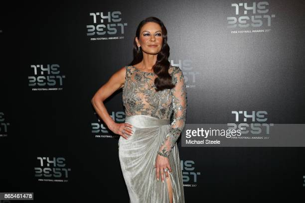 Catherine Zeta Jones arrives for The Best FIFA Football Awards Green Carpet Arrivals on October 23 2017 in London England
