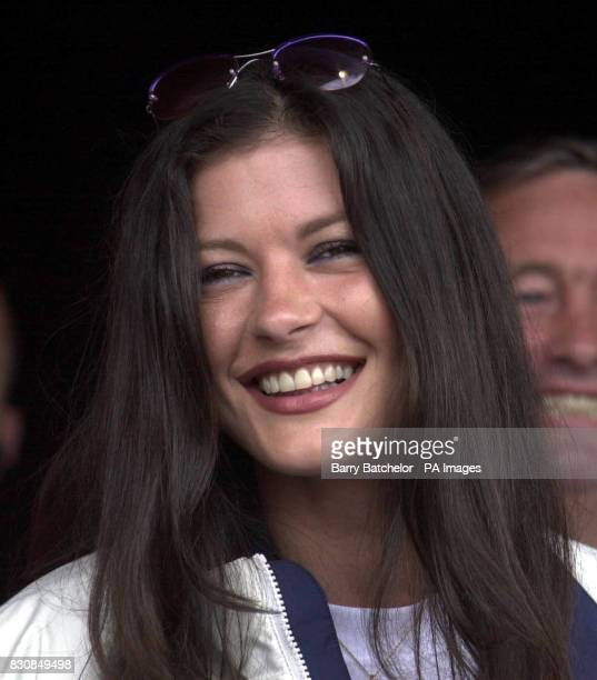 Catherine Zeta Jones at Cardiff Castle at the end of Ian Botham's fundraising walk for the Noah's Ark Appeal 30/04/02 The Hollywood actress was...